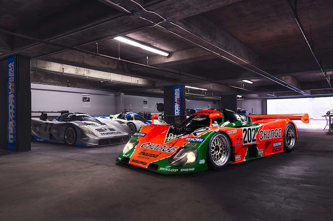 Mazda-787B-Side-Front-View