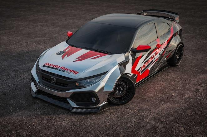 Hondas-Drift-Civic-Si-Front-View