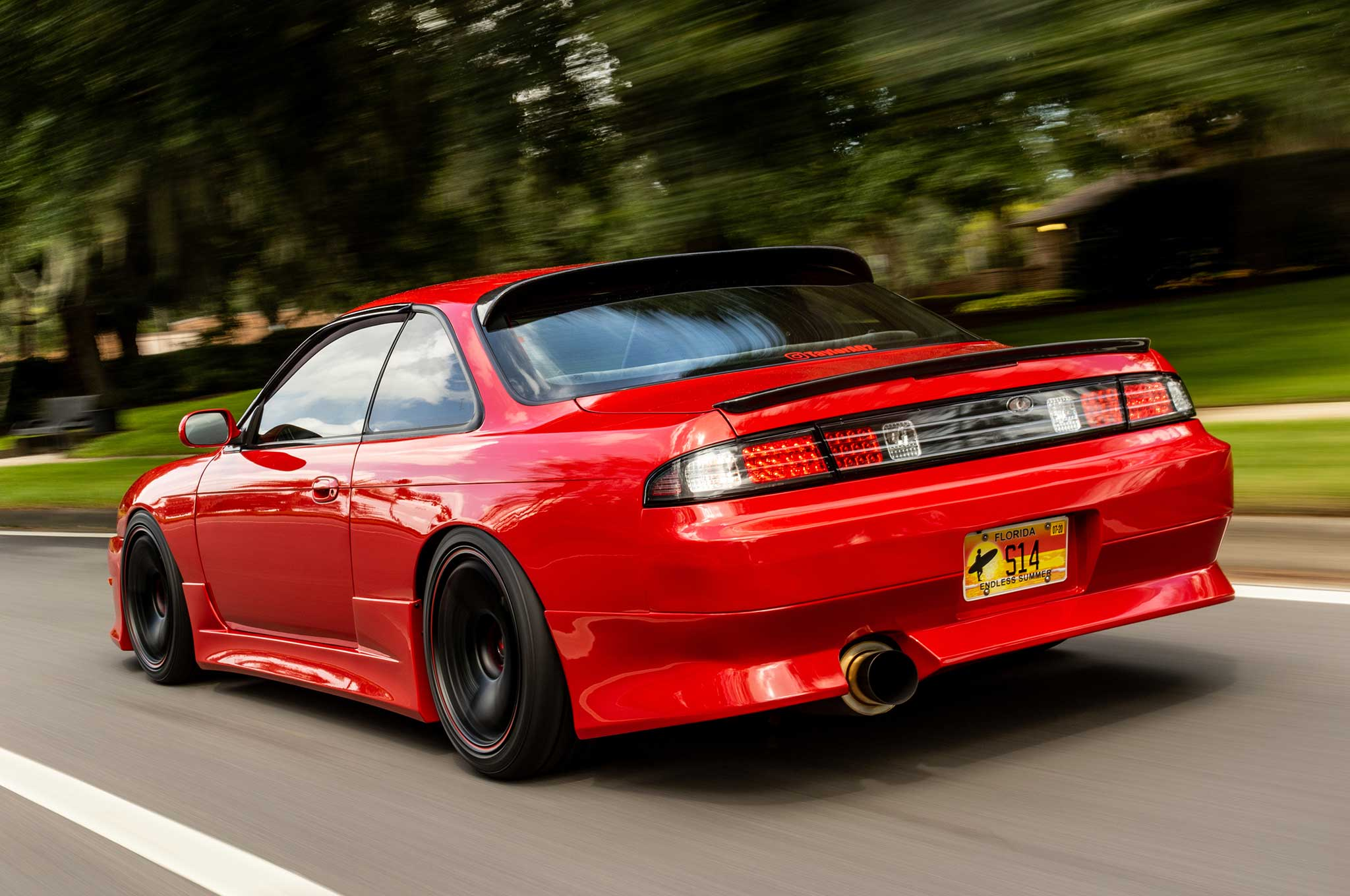Red For Nissan S13 SR20 Swapped Top Feed Fuel Injector Rail Kit+ ...