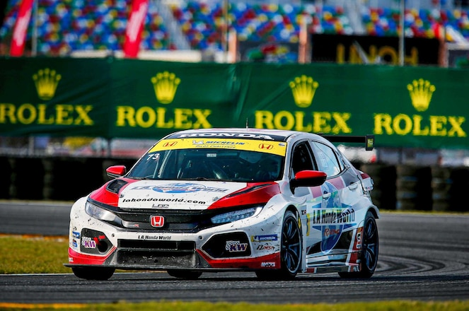 Honda Civic Type R TCR vs. the IMSA Michelin Pilot Challenge at Daytona International Speedway