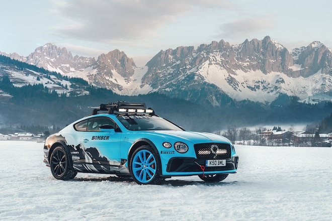 Bentley Continental GT Looks Rad as a Winter Rally Car