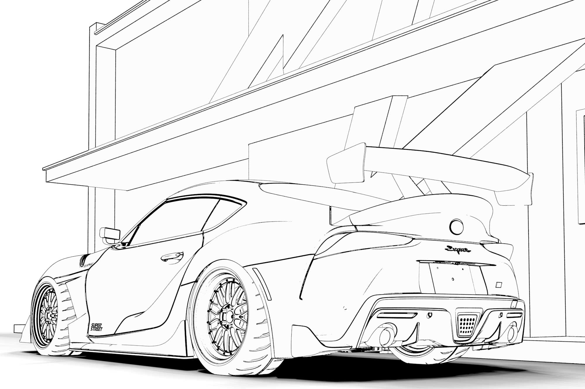 - Free Car Coloring Pages
