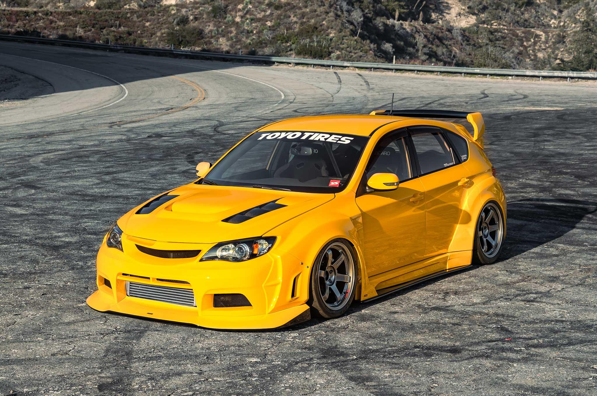 Varis Sunrise Yellow 2010 Subaru Sti