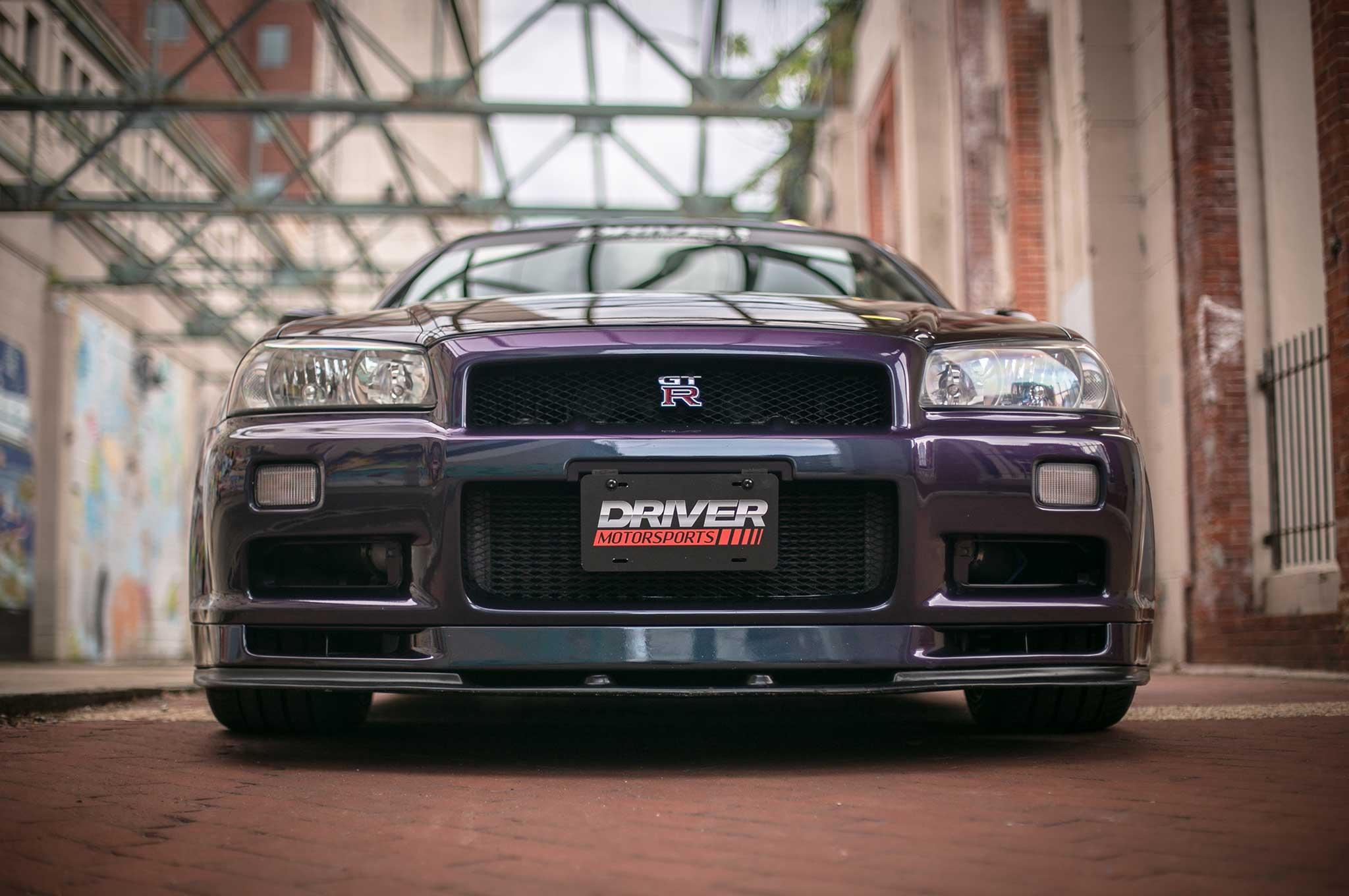 U S Legal Nissan R34 Skyline Gt R V Spec Limited Edition Midnight Purple On Volk Racing Te37s