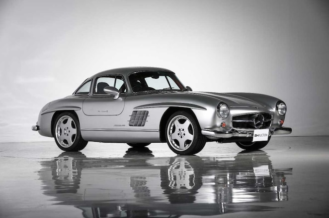 AMG-V-8-Swapped-Mercedes-Benz-300-SL-Gullwing-Driver-Side-Front-View