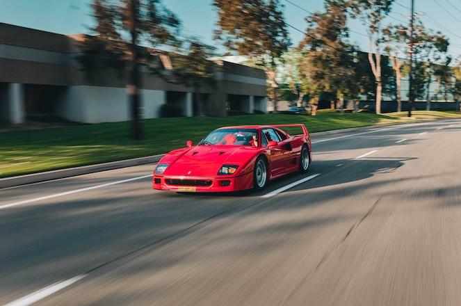 Ferrari-F40-Driver-Side-Front-View