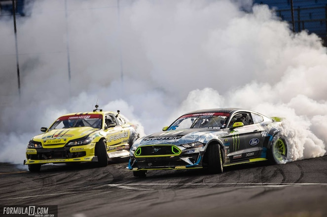 Formula D Seattle Pony Car Parade - Ford Mustangs Dominate, Vaughn Gittin Wins Back-to-Back Rounds