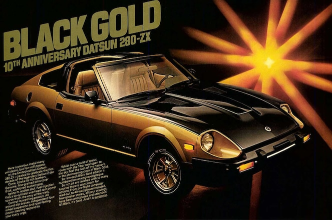 Special-Edition-Nissan-Z-Cars-10th-Anniversary-280ZX-Black-Gold