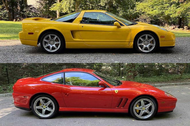 Same Year NSX-T Nabs Higher Closing Bid Than Ferrari 575M Maranello in Auction