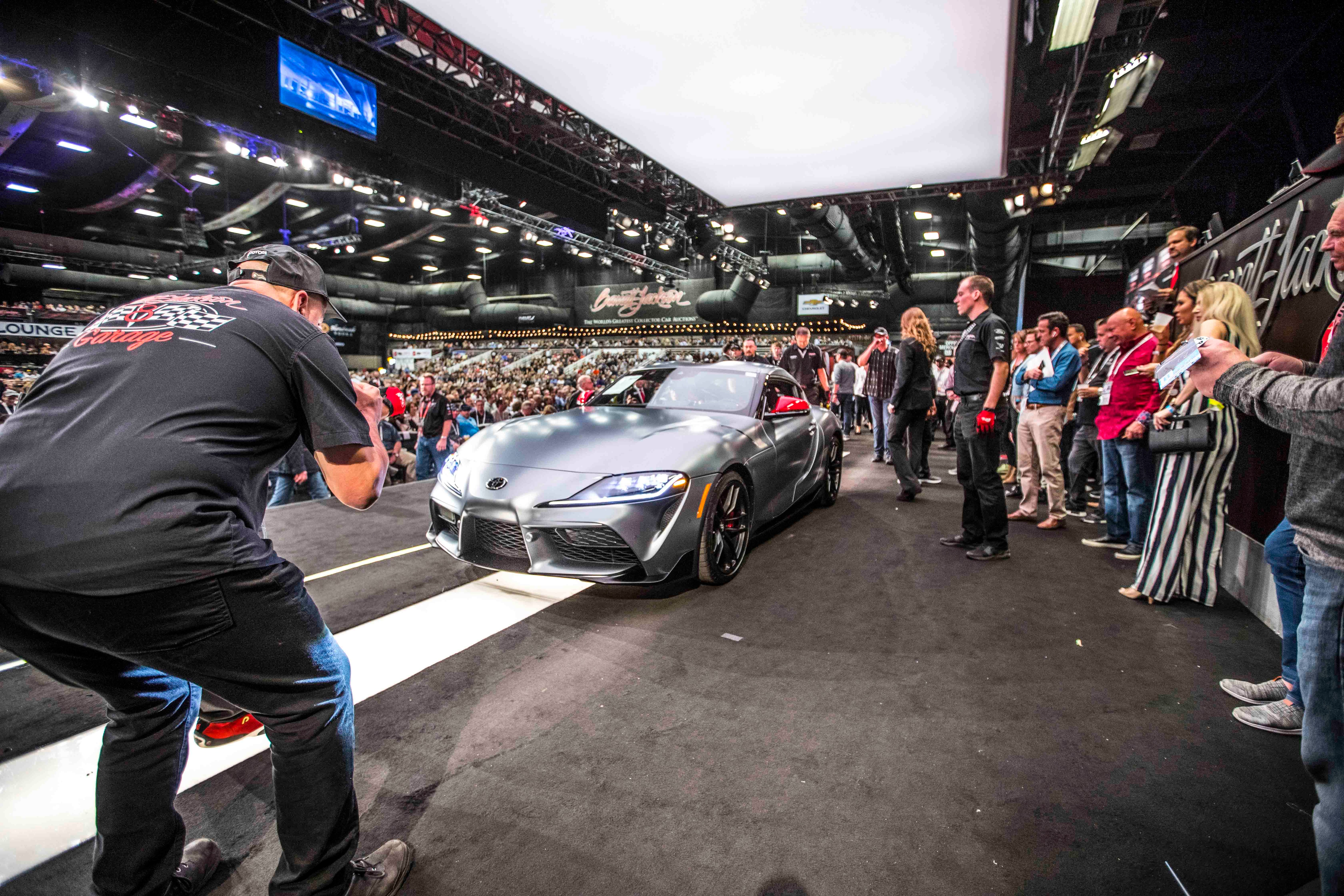 first 2020 toyota supra sold for $2.1 million at barrett