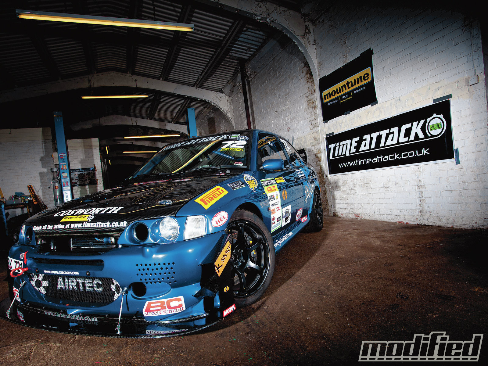 Highly modified escort gt
