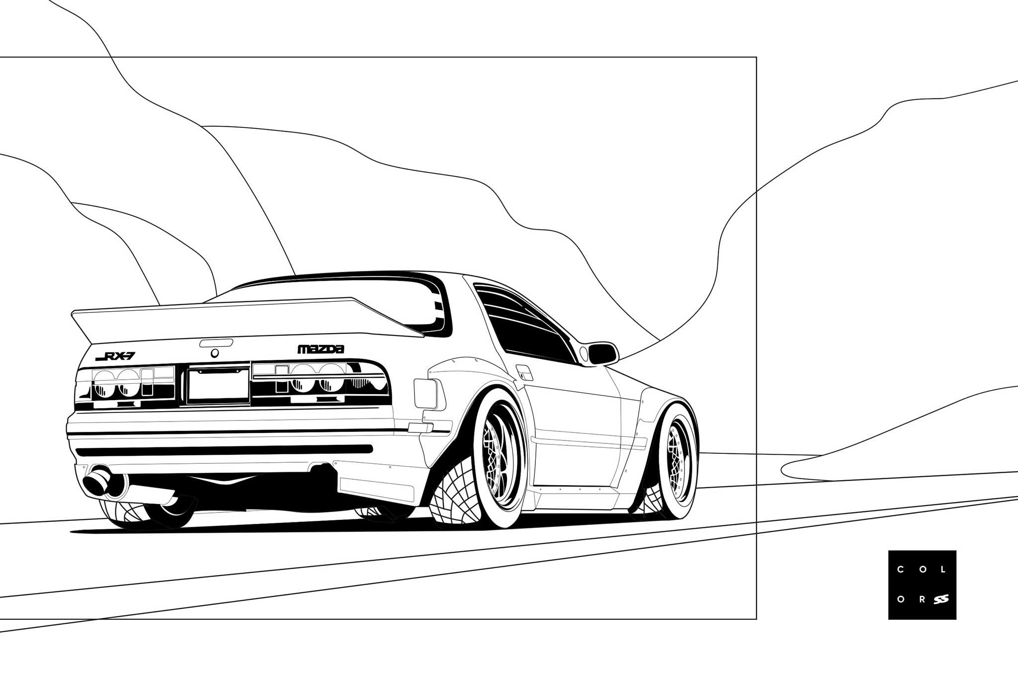 Super Street S Car Coloring Pages V 2